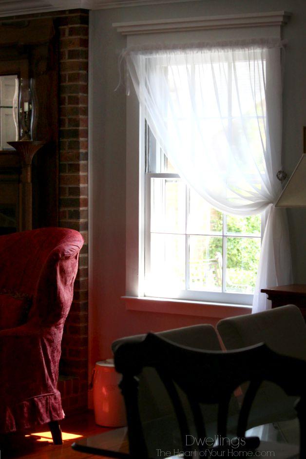 1 curtain panel per window