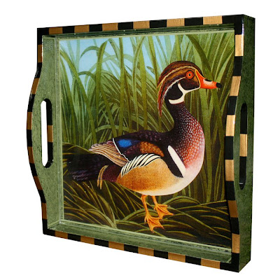 tray with painting of a duck