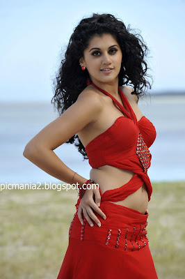 south indian mallu actress Tapsee ( taapsee ) saree bikini navel cleavge show hot image gallery