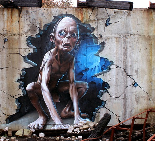 04-Smeagol-Gollum-Andy-Serkis-The-Hobbit-Lord-of-The-Rings-SmugOne-Graffiti-Artist-3D-www-designstack-co