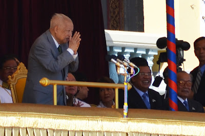 King Sihanouk and Prime Minister Hun Sen of Cambodia