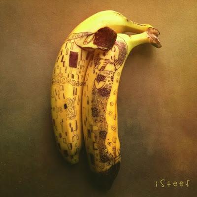 imaginative banana artwork by Stephan Brusche
