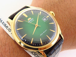 ORIENT BAMBINO GREEN DIAL YELLOW GOLD CASE - AUTOMATIC