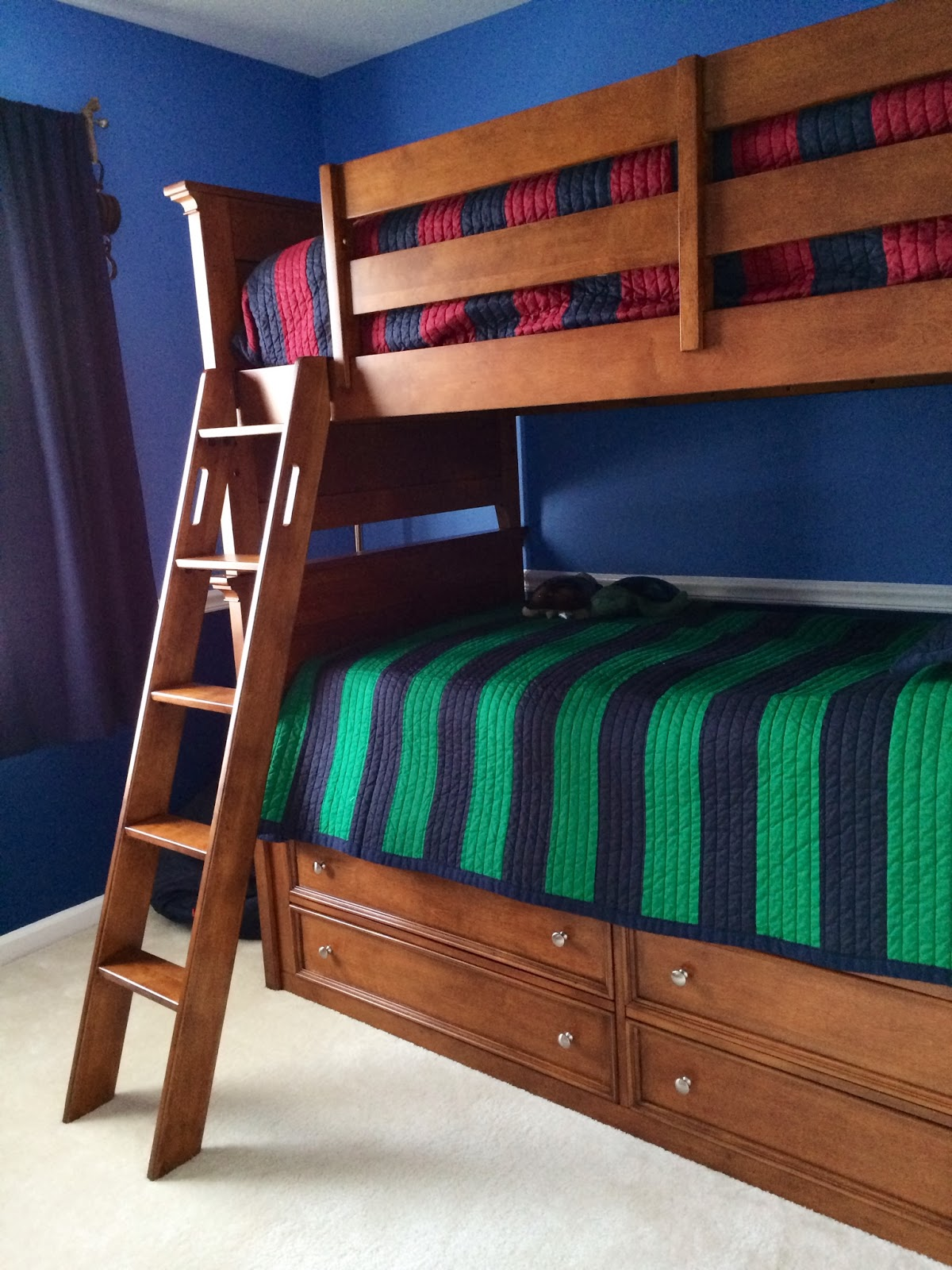 Eleanor olander this is me logan 39 s big boy room reveal for Boys rugby bedroom ideas
