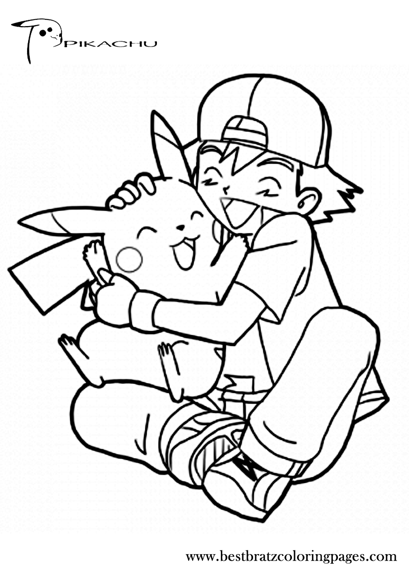 sandy pikachu coloring pages - photo#1