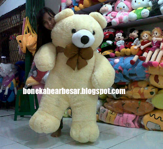 gambar boneka teddy bear besar krem