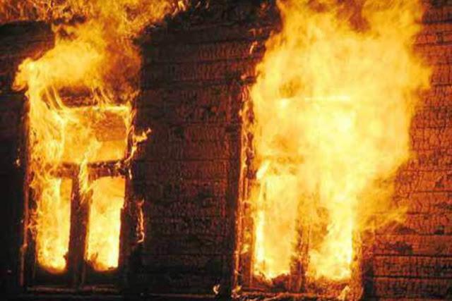 Пожар в частном доме на Кировке Сергиев Посад