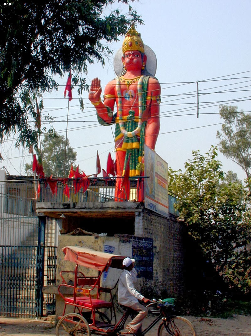 Lord Hanuman statue located in Nangloi Delhi