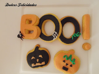Galletas BOO halloween fondant