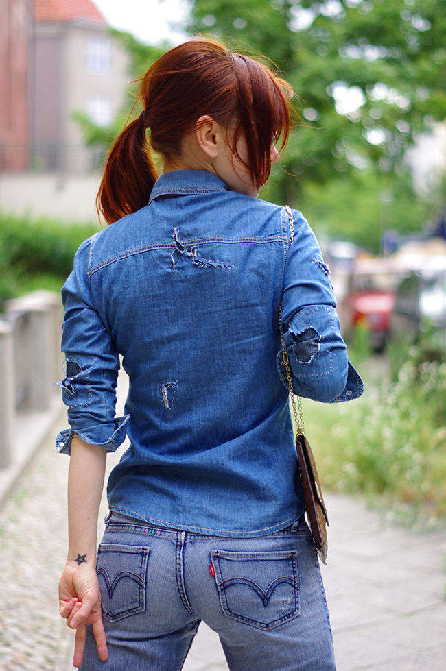 Denim on Denim. Street Style Berlin. By Xenia Kuhn for www.fashionrolla.com