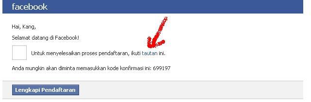 mau melakukan pembaharuan pada account facebook yang baru saja di buat ...