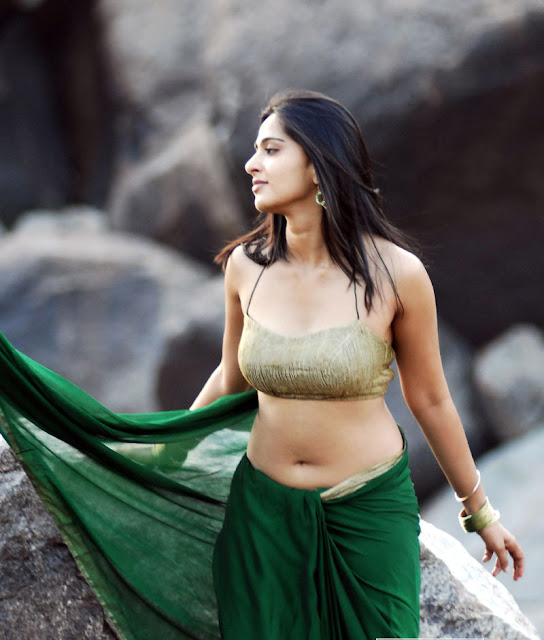 anushka_hot_saree_navel