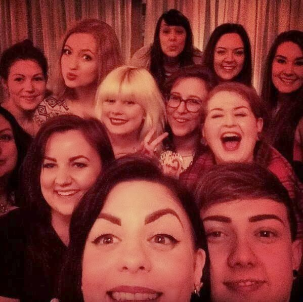 Oscars Selfie Photo Pic Benefit Brow Arch march LGFB Event Cardiff Wales