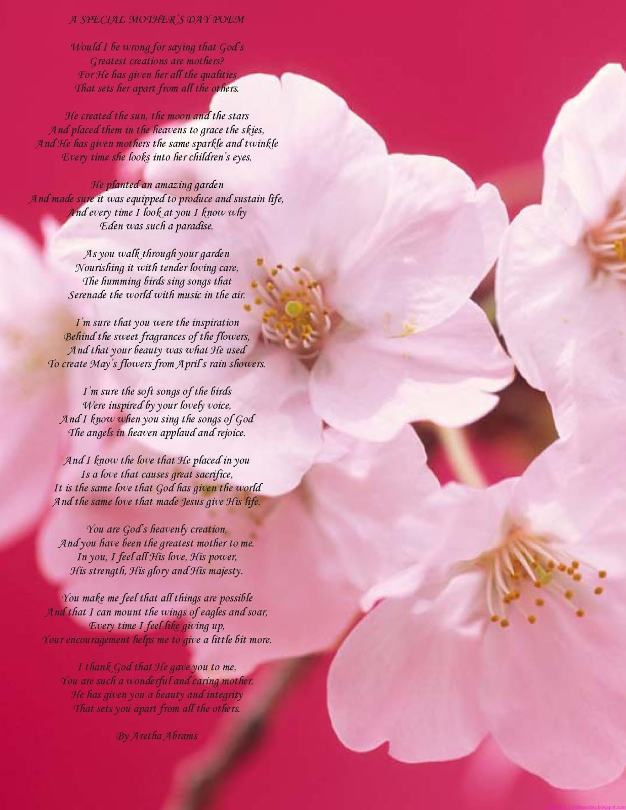 Wallpaper Free Download: Happy mother\'s day poems
