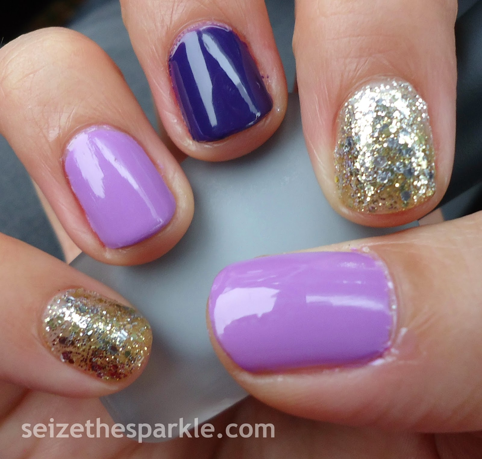 Purple and Gold Manicure