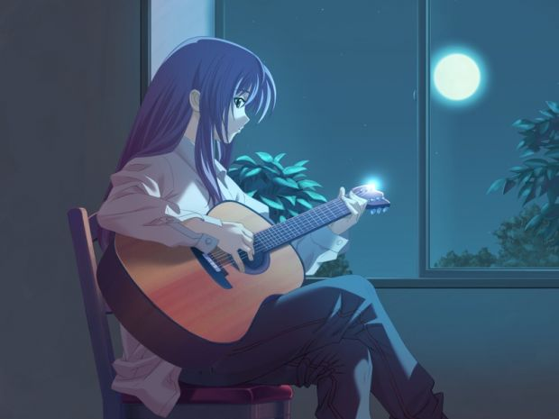 Image Result For Anime Girl Playing Guitar Wallpaper