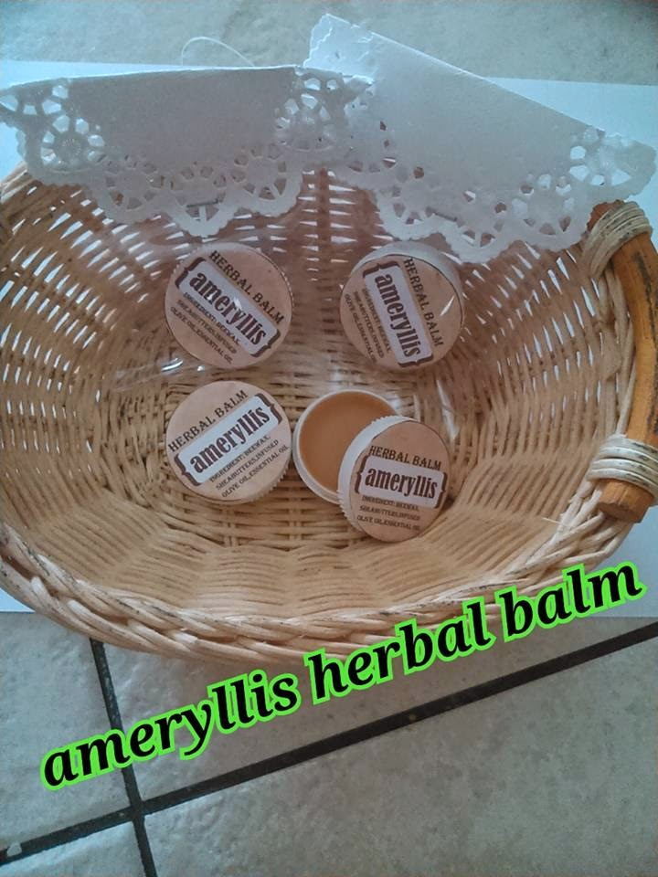 Ameryllis herbal balm finish dress up with pretty dolly lace paper are going out for sales