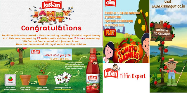 A collage of some fun activities by Kissan