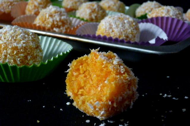 tartufini di carote e cocco