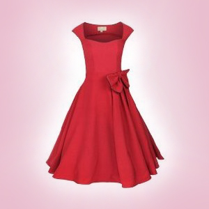 Red Grace swingdress by Lindy Bop