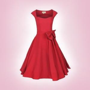 Red Grace swingdress by Lindy Bop