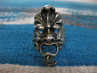 ~50's MONSTER SILVER RING