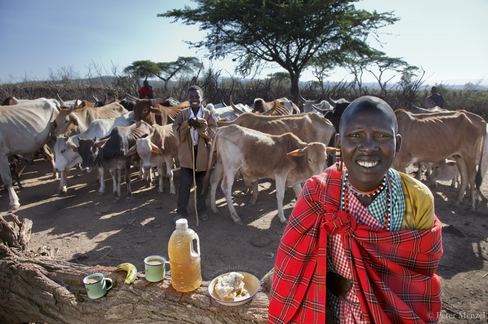maize meal and milk. kenya
