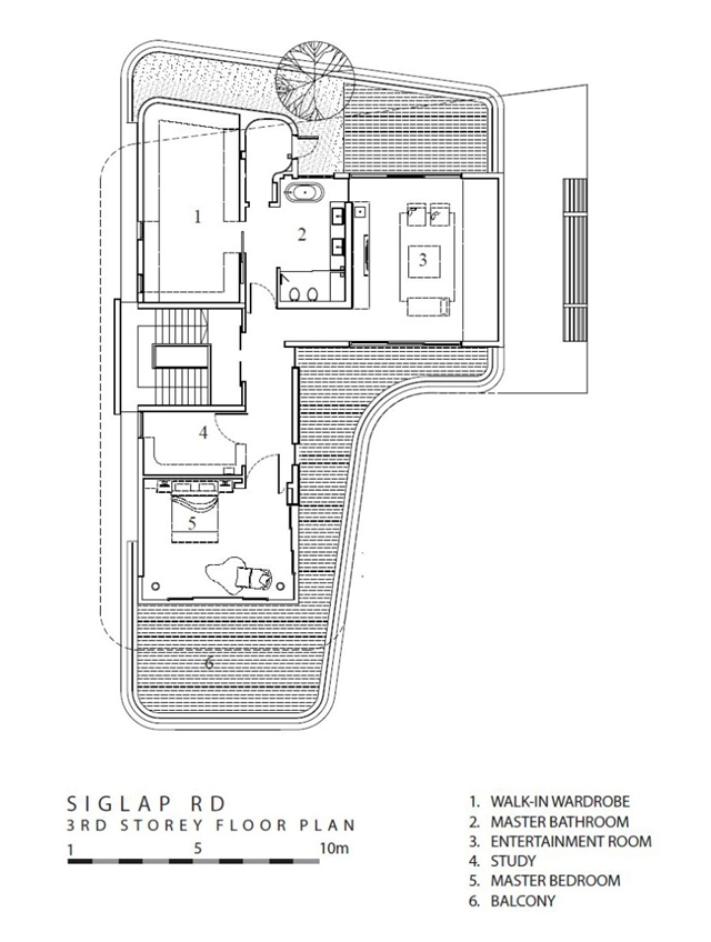First floor plan in the modern mansion