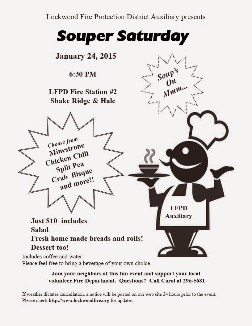 "Lockwood FPD ""Souper Saturday"" - Sat Jan 24"
