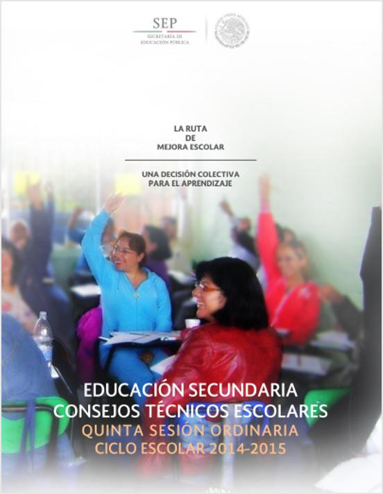 Guía de la 5ta Sesión del CTE SECUNDARIA