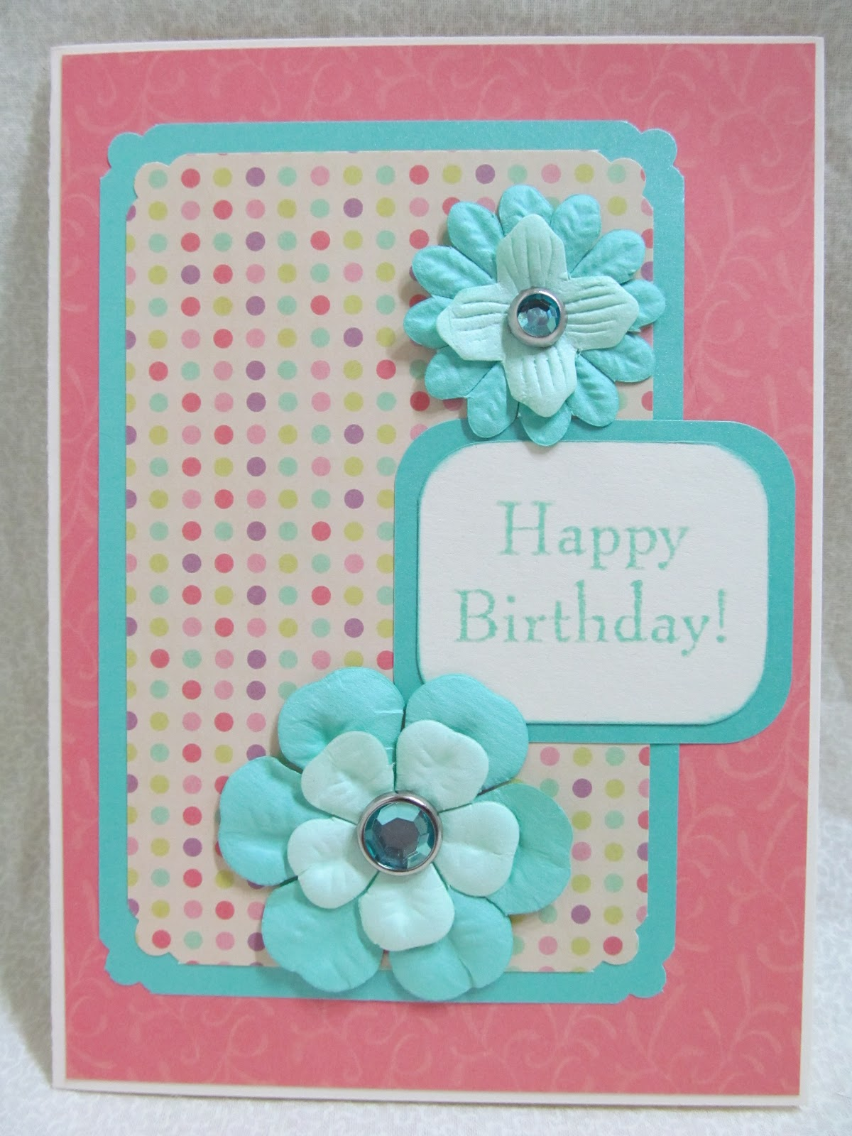 Savvy Handmade Cards Card With Paper Flowers