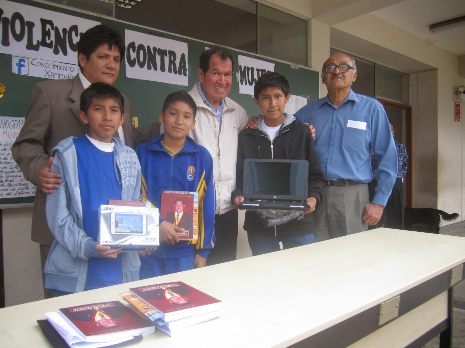 Ganadores del Concurso Interescolar de Matemáticas Ing. Roberto Morales Morales 2014
