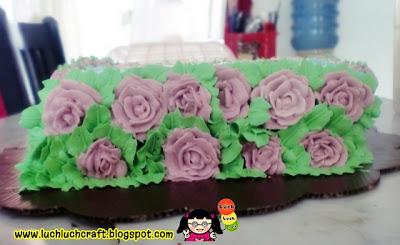 cat garden cake