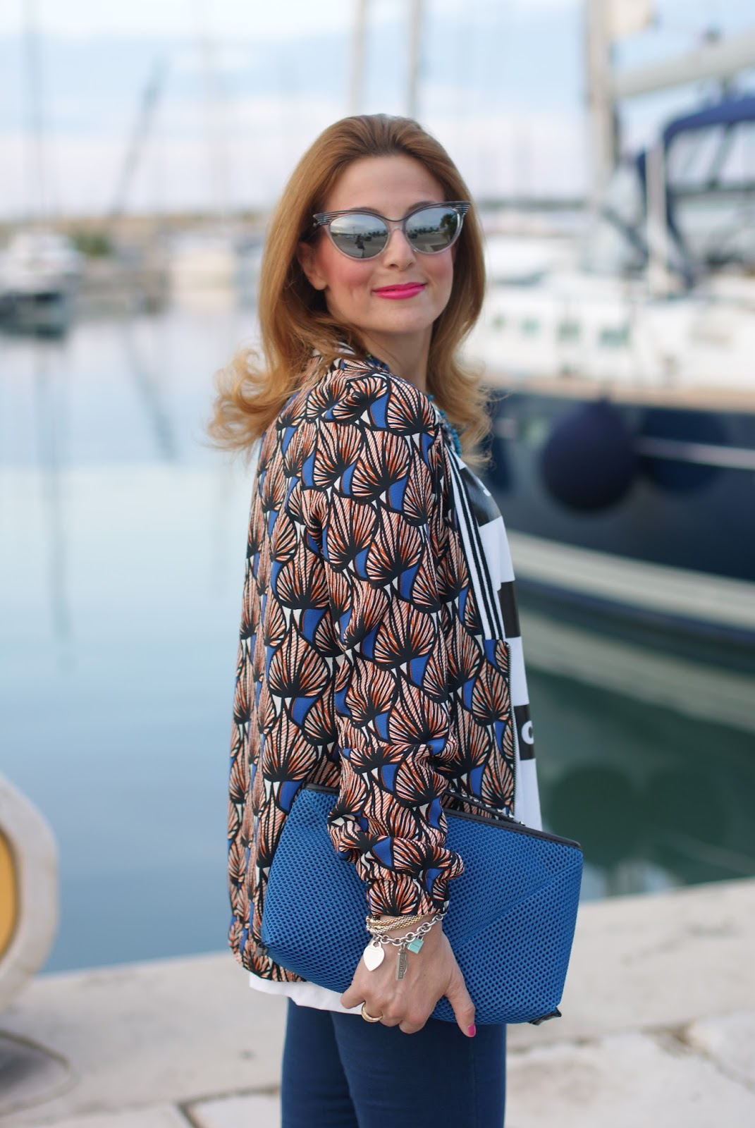 Pimkie ethnic jacket and Zara clutch on Fashion and Cookies fashion blog, fashion blogger style