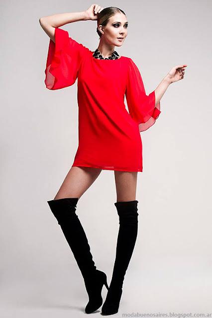 Vestidos de fiesta cortos invierno 2015 Verónica Far que seguirán de moda en la primavera verano 2016.