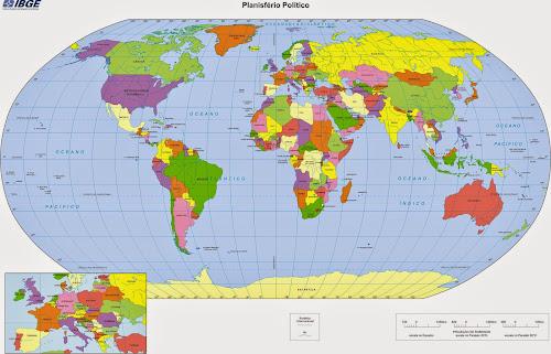 Mapa do Mundo IBGE