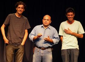 Com os amigos Lázaro Câmara e Tadeu