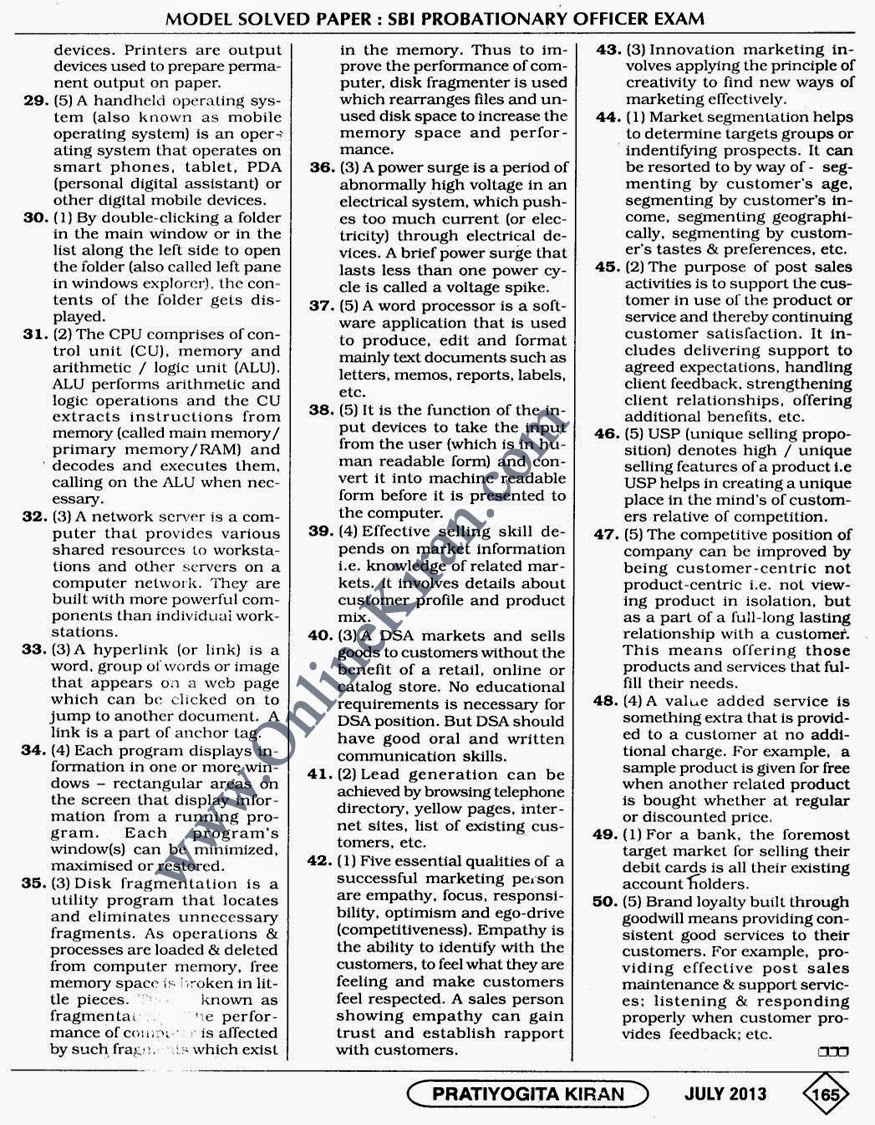 SBI PO Previous Papers Download Last 10 Years SBI PO Question Papers PDF