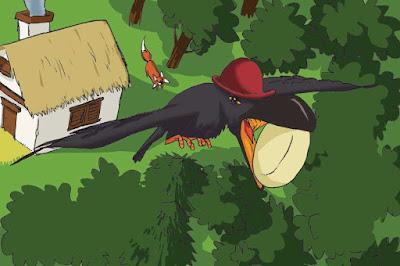 El cuento para niños del Cuervo y el Zorro