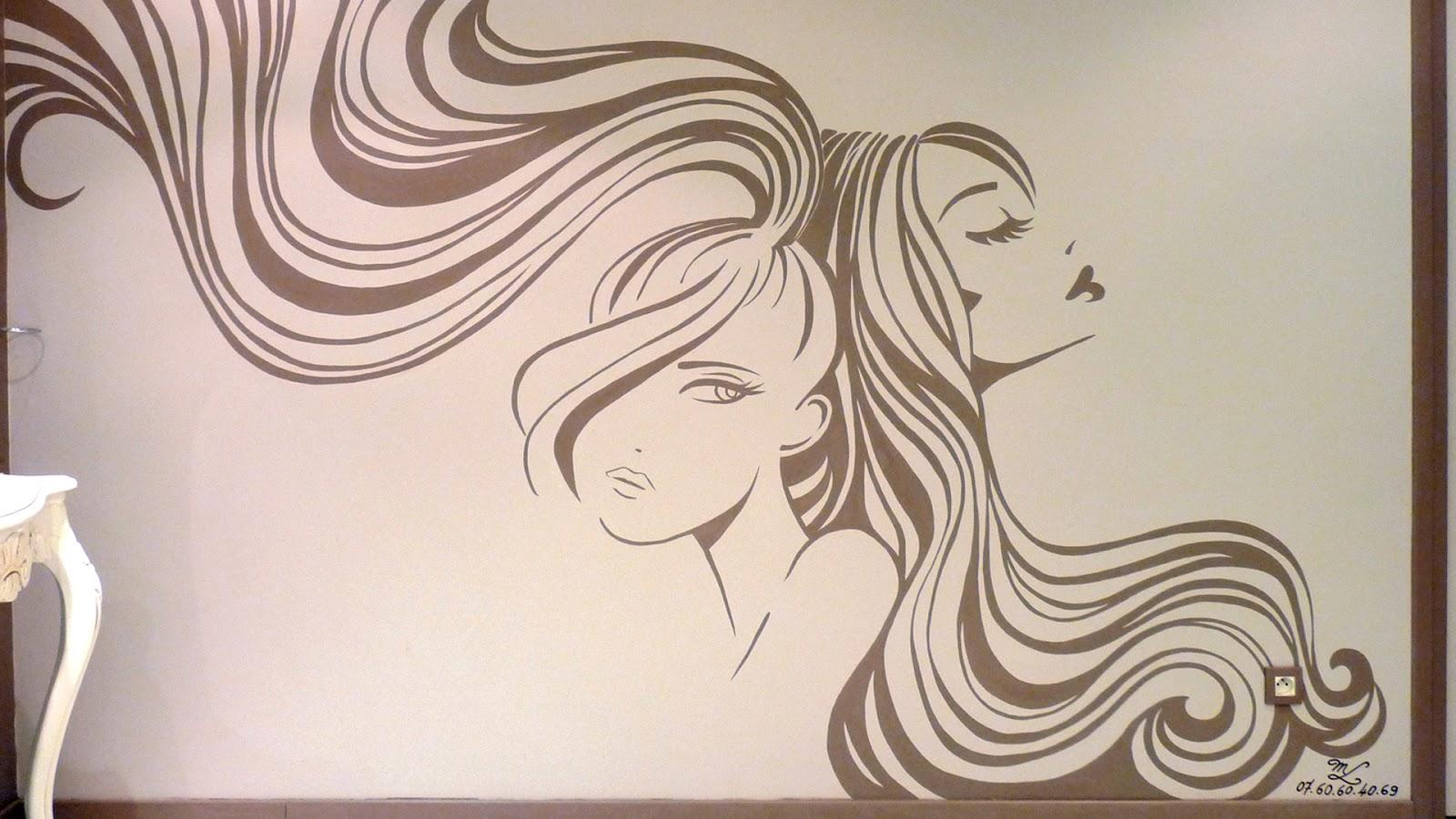 Fresque D Coration Salon De Coiffure D Coration Fresques Myland