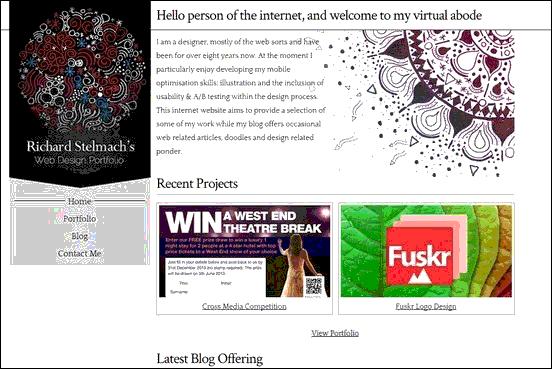 Creative Binge - Website design using drawings and illustration