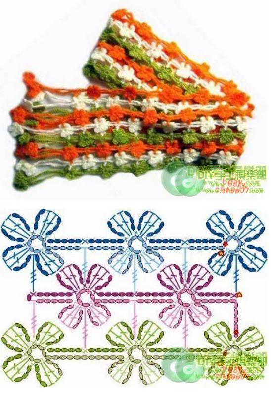 Patrones de crochet para bufandas - Imagui
