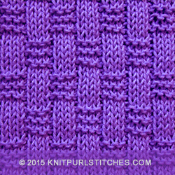 Weaving Stitches In Knitting : Simple Basket-weave Patterns Knit - Purl stitches