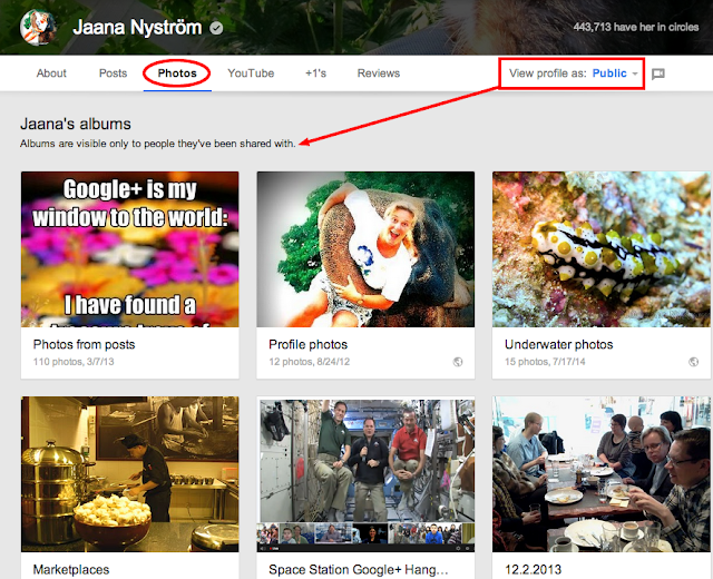 GooglePlus Helper: Photos and videos in profile tabs - Google+ update