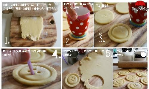 Μπισκότα κουμπάκια-οδηγίες