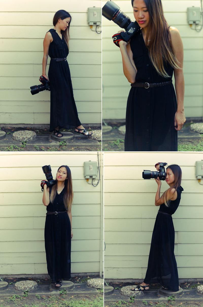 WWT black maxi dress