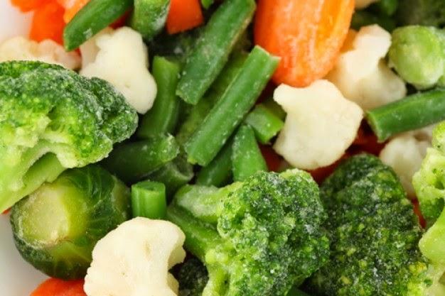 Vegetales Bajo cero