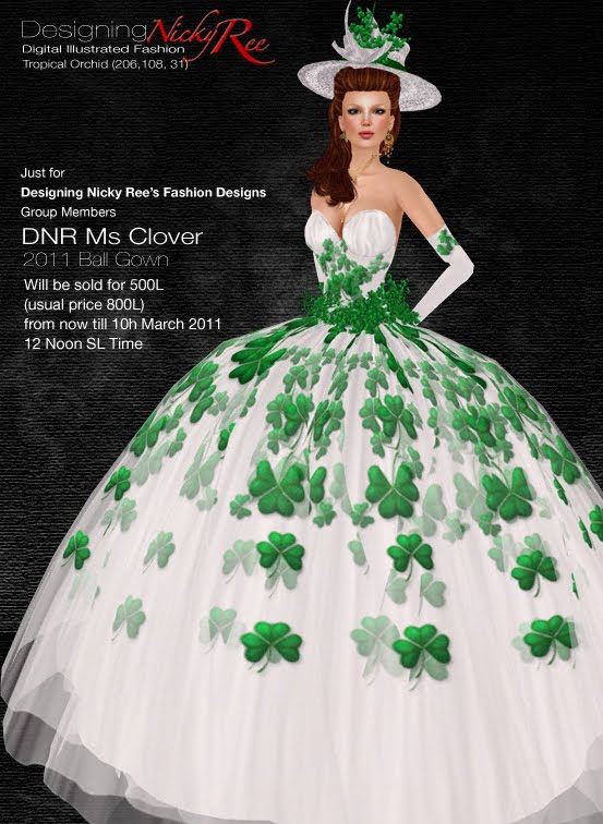 Designing Nicky Ree: New Release - Ms Clover Ball Gown & Shakra ...