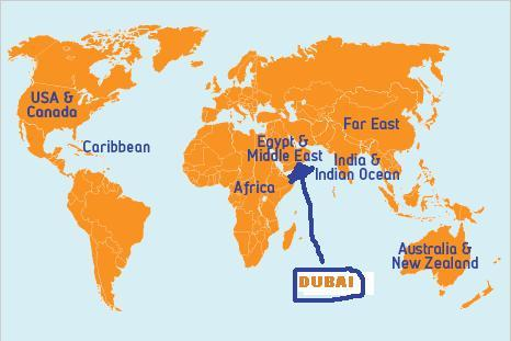 Location Of Dubai On World Map