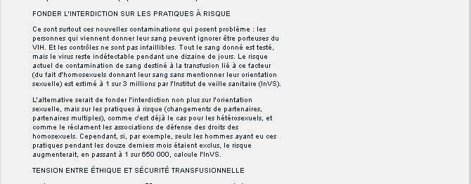 contrôle ultime transfusion exemple